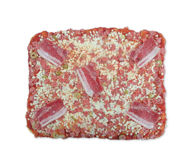 PIZZA RECTANGULAR DE JAMÓN YORK